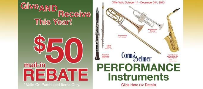$50 Rebate from Conn-Selmer