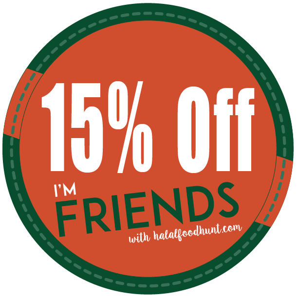 15% off FRIENDS with Halalfoodhunt.com