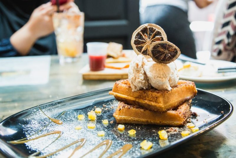 Sinseh the Grocer in Singapore sells Halal Churros Waffles