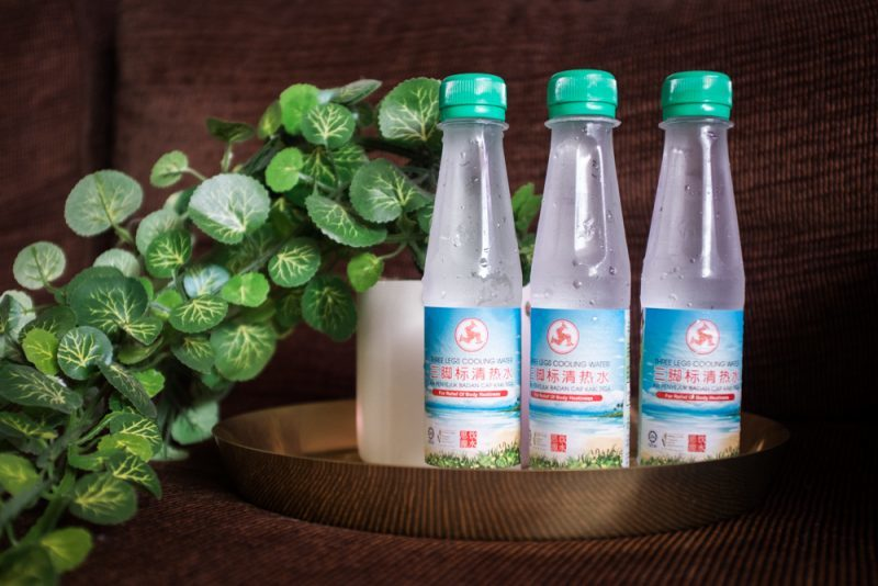 Three Legs Cooling Water Brand Traditional Bottle Packaging