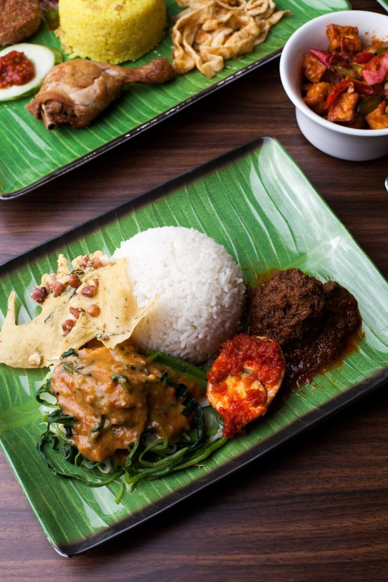 Nasi Rendang Pecel Kediri $8.90 White Rice served with Beef Rendang, our special salad with spiced nutty sauce and homemade cracker