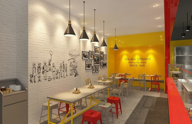 the halal guys interior