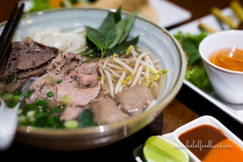 Halal Beef Pho at The Orange Lantern - halalfoodhunt