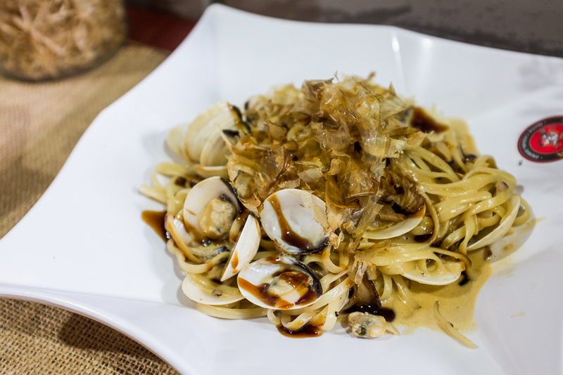 Miso Clams and Mushrooms Pasta at PastaMania Halal-certified Singapore