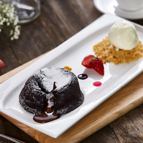 Citrus by the pool molten chocolate lava cake min