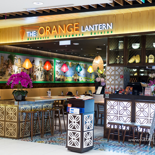Orange lantern halal vietnamese food in singapore storefront jurong