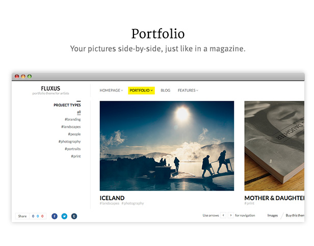 Fluxus - Portfolio Theme for Photographers