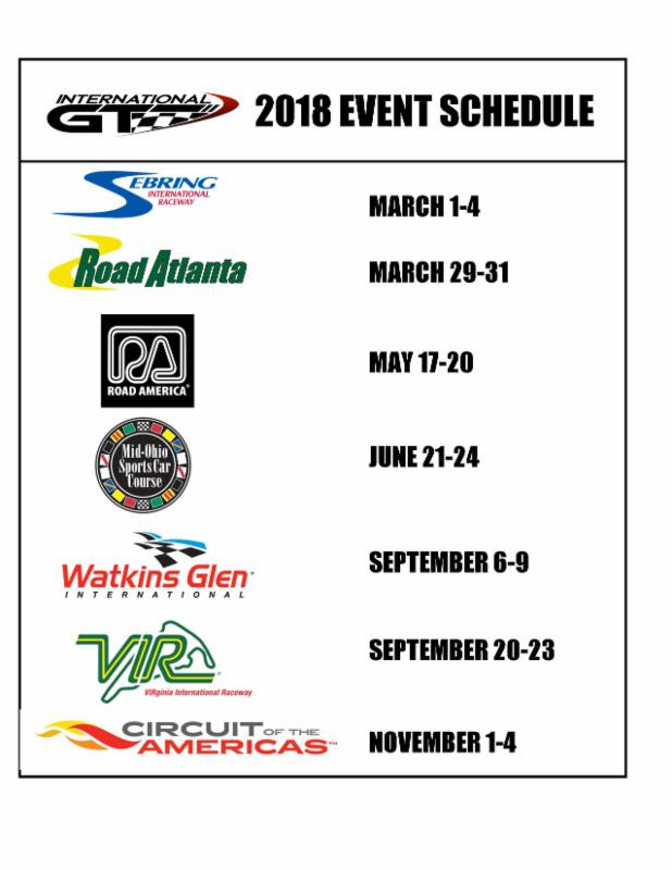 international gt schedule 2018