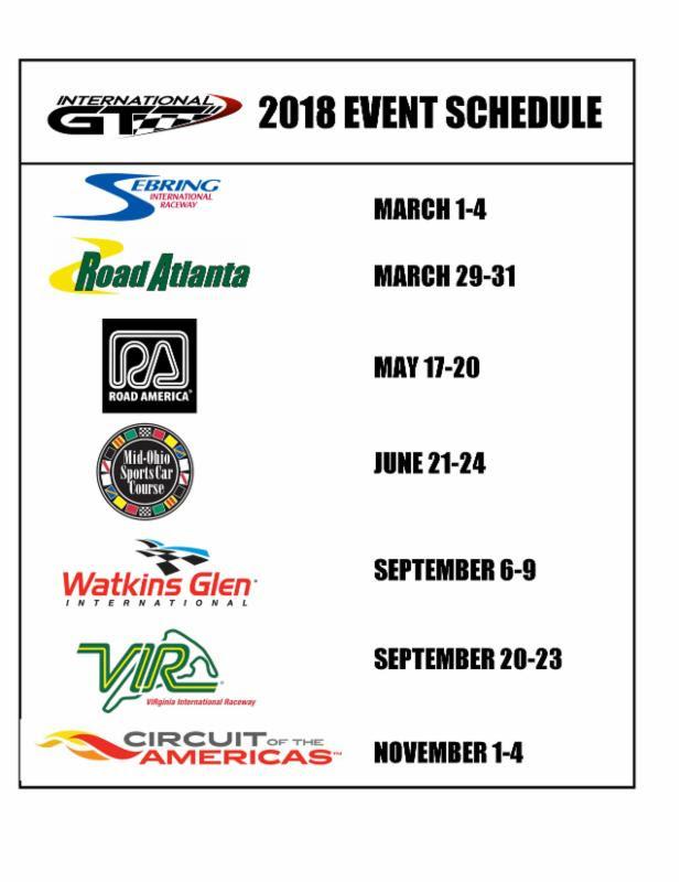 international gt schedule 2018