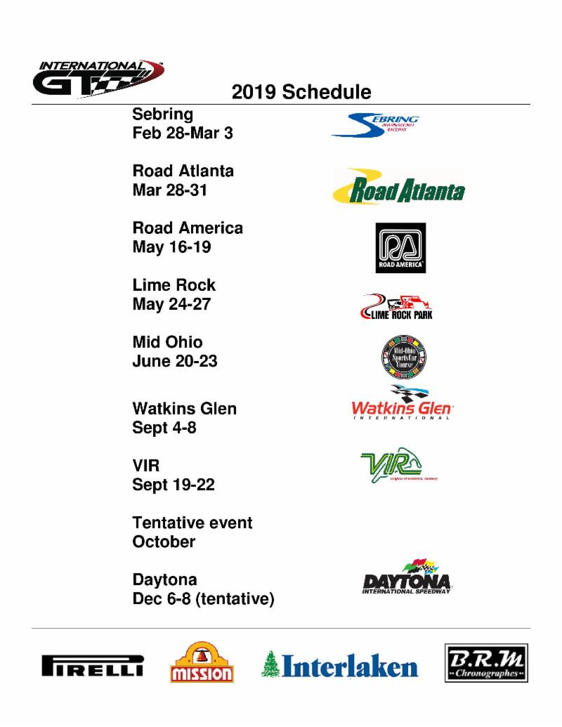 international gt race schedule 2019