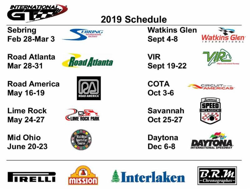 International gt race schedule