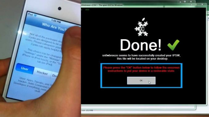 How to Jailbreak 6.1.3, 6.1.2, 6.1 Untethered w/ sn0wbreeze +Unlock- iPhone iPad iPod Touch