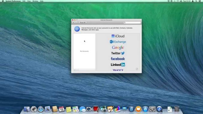 Add your Twitter & Facebook accounts to OS X