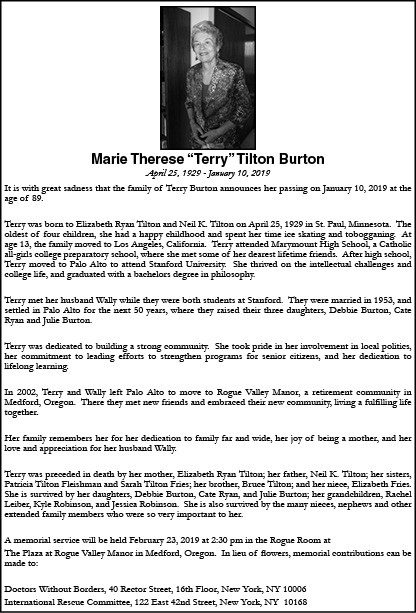 Obituary for Marie Therese