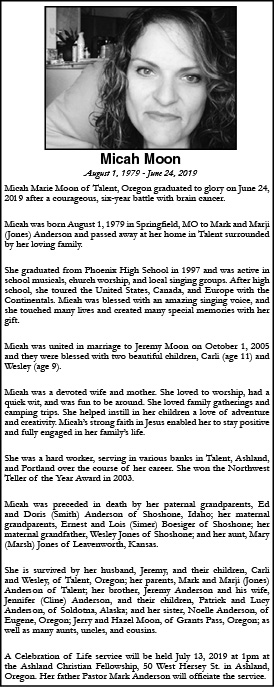 Obituary for Micah Moon