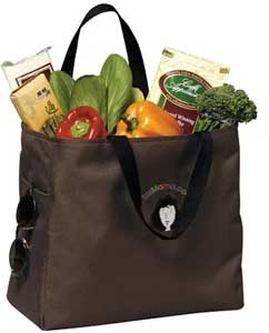 Taxmama's reusable shopping bag for books or groceries