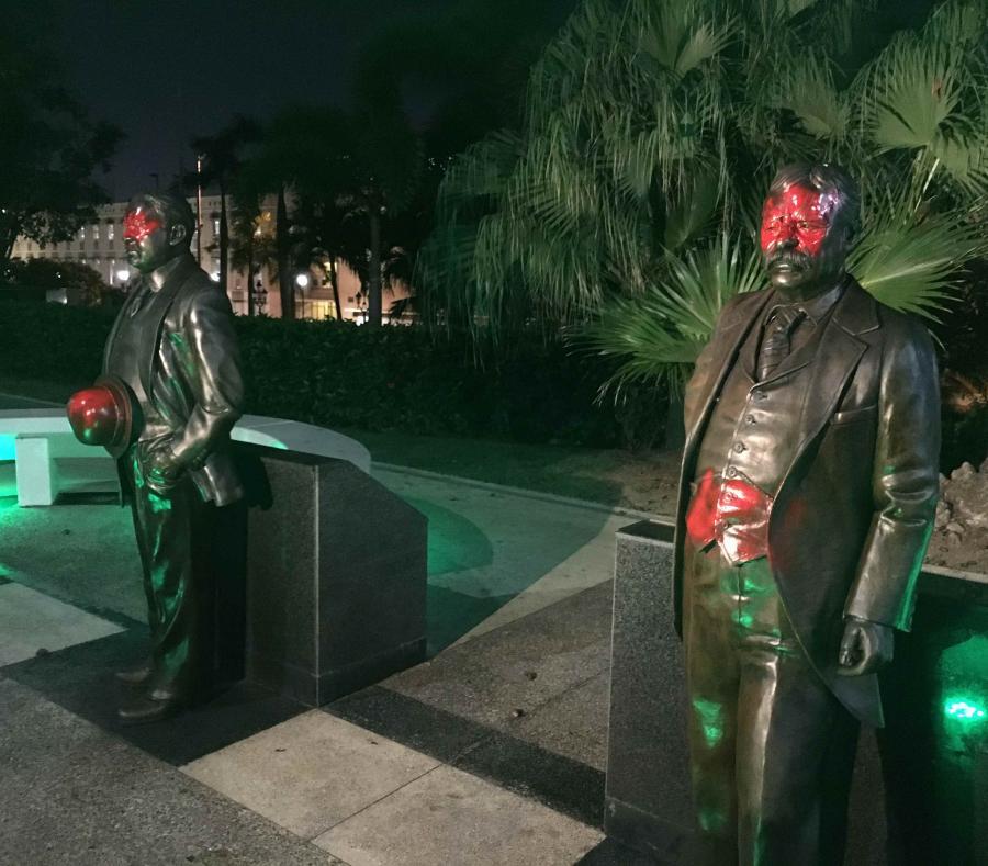 Statues vandalized puerto rico
