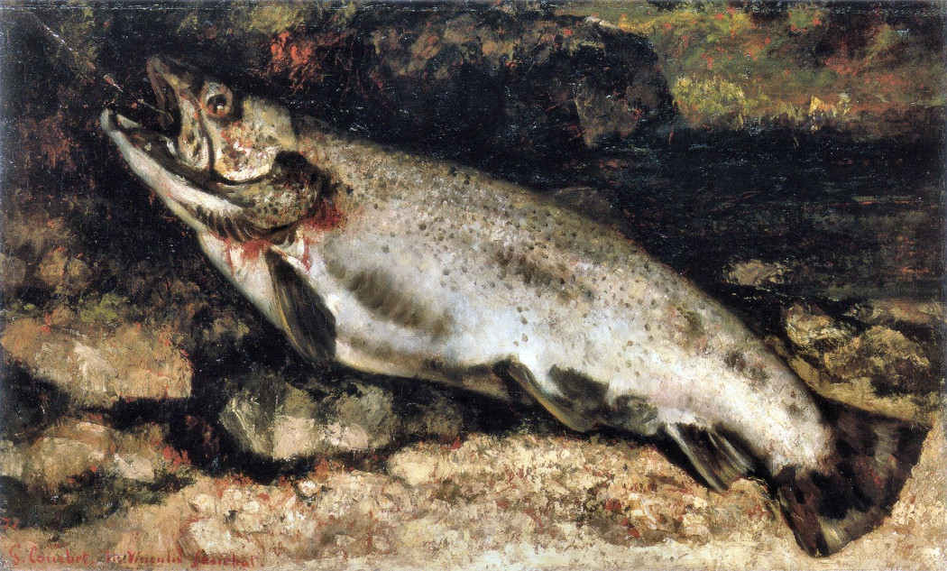 Gustave courbet   the trout   wga05474