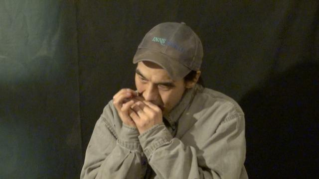 Bobby Uttuguik plays Harmonica