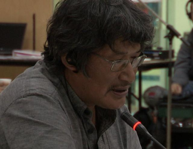 Zacharias Kunuk with Lloyd Lipsett, Formal Intervention, NIRB Technical Hearing, July 23, 2012, Igloolik, Part 2/2 1:18 English Version