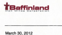 Lien vers: Baffinland Revised 2012 Field Work Plan