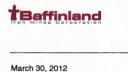 Link to: Baffinland Revised 2012 Field Work Plan