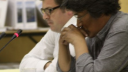 Link to: Kunuk and Lipsett (audio only, faster download), English version, Human Rights Intervention, 32:35 July 23, 2012, NIRB Public Hearing on Baffinland, Igloolik