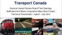 Link to: Transport Canada Technical Presentation - English