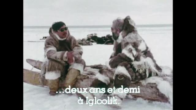 Emile Immaroitok talks to Bernard Saladin d'Anglure, 1976, 3:32 ᓂᐲᑦ ᐃᓄᒃᑎᑐᑦ and English with French subtitles