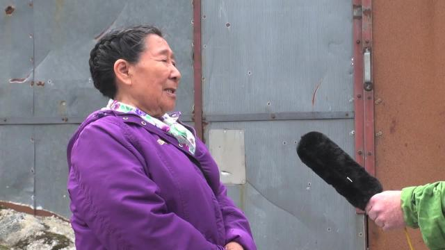 Madeline Ivalu meets the press in Greenland