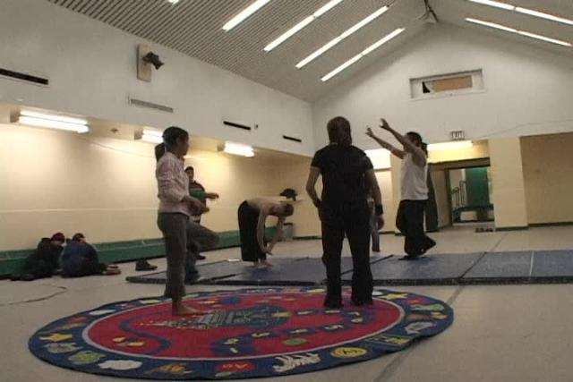 Conversations and rehearsing in Igloolik - 2
