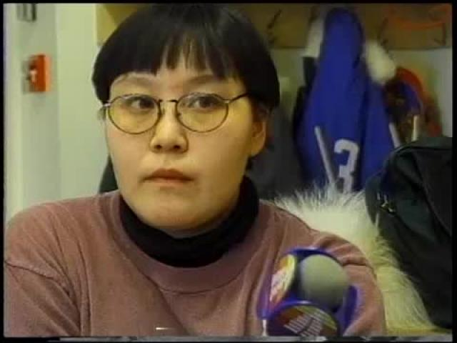 Qaujisaut Sewing with Mrs. Tattuinex _1997