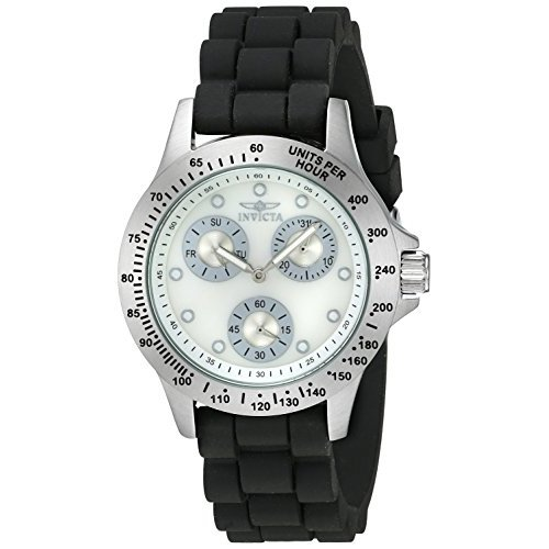 Invicta Speedway Quartz Chronograph White Dial Silicone Womens Watch (Multiple Colors)