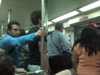 Crowded traincar