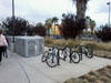 Bike Rack and Lockers