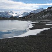 Snow cover melting. Photo © IUCN.