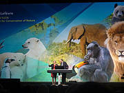 Julia Marton-Lefèvre, IUCN and Jack Dangermond, ESRI (Photo: Ackbar Joolia)