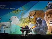 Julia Marton-Lefèvre, IUCN and Jack Dangermond, ESRI (Photo: Ackbar Joolia)