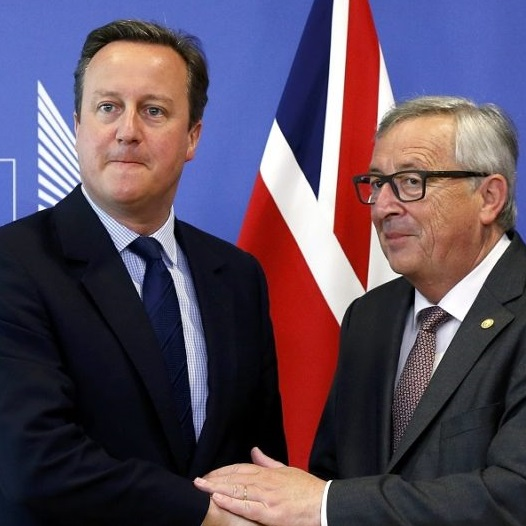 UK Prime Minister David Cameron and European Commission President Jean-Claude Juncker arrive at the E.U. Summit (28 June 2016). Source: Reuters
