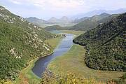 An inlet on Lake Skadar, Albania and Montenegro. This large Mediterranean lake and its associated catchment is a freshwater Key Biodiversity Area (KBA) supporting at least 24 species of threatened or restricted range freshwater species Photo: Geert De Knijf
