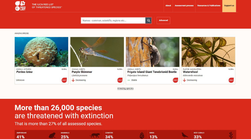 The IUCN Red List of Threatened Species™ Launches New Website