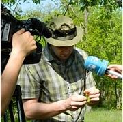 Providing expertise on forest pathology on Publika TV. Photo: Viorica Caciuc