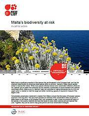 Fact Sheet on Malta's biodiversity. Photo: IUCN