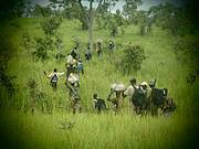 Chasing illegal gold miners. Photo: LEO Foundation / Bouba-Ndjidda NP