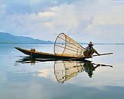 Fisherman on Inlay Lake, Myanmar. Photo: Vladimir Fofanov - sxc.hu