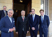 IUCN's President Zhang Xinsheng with The Prince of Wales, The Duke of Cambridge and Prince Harry at the Illegal Wildlife Trade conference in London Photo: CITES Secretariat