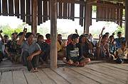 Prey Veng villagers vote to protect White-winged Duck. Photo: Johnny Orn Sam Veasna Centre