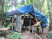 Illegal camp discovered by patrol. Photo: Khamhou Thongsamouth