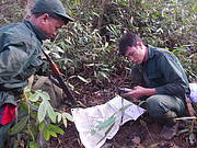 Wildlife Enforcement Rangers on patrol in PST ESCA. Photo: WCS Lao PDR IEWMP