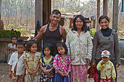 The Kanns, one of the project's Ibis Rice families Photo: WCS Cambodia